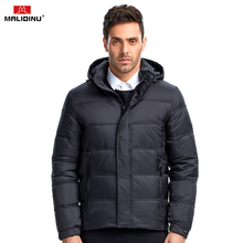 MALIDINU 2017 High Quality Men Down Jacket Winter Down Coat Parka 70%White Duck Down Thicken Winter Jacket Brand Free Shipping