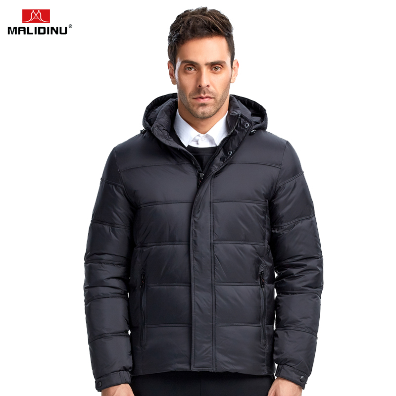 MALIDINU 2018 High Quality Men Down Jacket Winter Down Coat Parka 70%White Duck Down Thicken Winter Jacket Brand Free Shipping