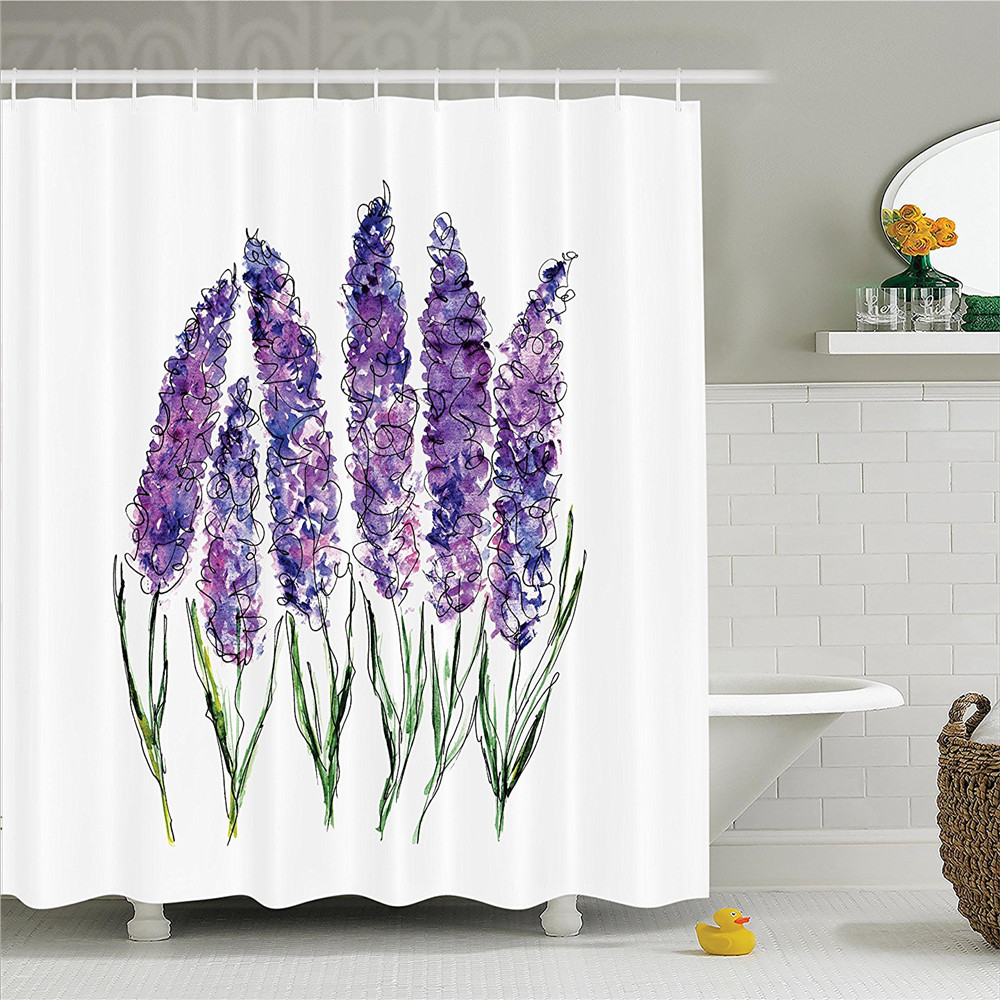 Watercolor Flower Illustration of Lavender Flowers with Fresh Colors ...