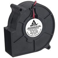 1pcs/lot Gdstime 2Pin 3inch Quiet 12 volt Blower 75x30mm Fast Speed DC Cooling Fan