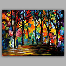 Hand-Painted Knife Forest Pure Abstract Landscape Modern Oil Painting On Canvas Home Decor Canvas Wall Pictures for Living Room