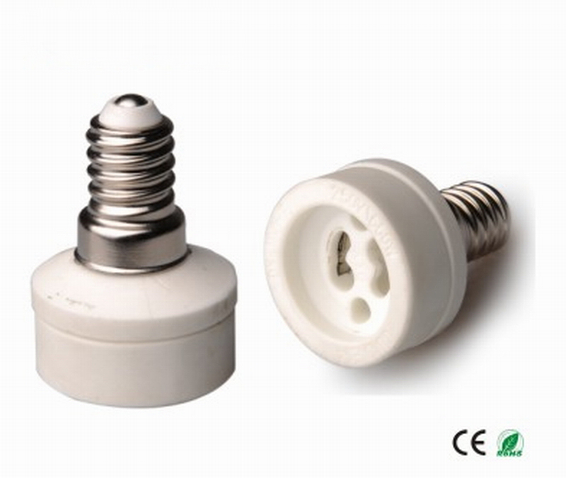 E14 para Gu10, Suporte Da Lâmpada Gu10 para E14 Base Da Lâmpada converter,  conversor de suporte da lâmpada, material Cerâmico, de alta qualidade, ... a5c11de7c0