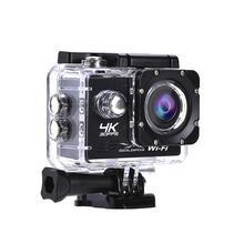 HD 4K 30FPS Wifi פעולה מצלמה 2 אינץ LCD מסך 1080P חיצוני ללכת עמיד למים פרו צלילה ספורט קסדה מצלמה תמיכת 64G TF כרטיס