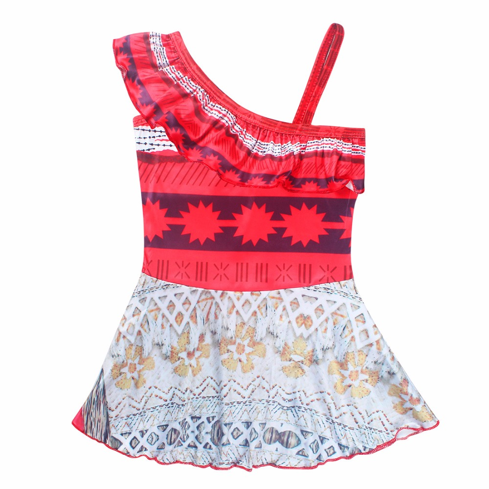 2019 NEW Swimsuit Girls One Piece Swimwear moana bikini dress Bodysuit Children Beachwear Sports Swim Suit