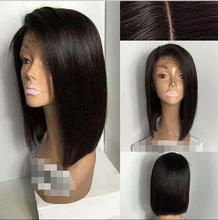 Hot Sell!  10″ Side Part Opening Silky Straight Brazilian Hair Part Short Bob Wig