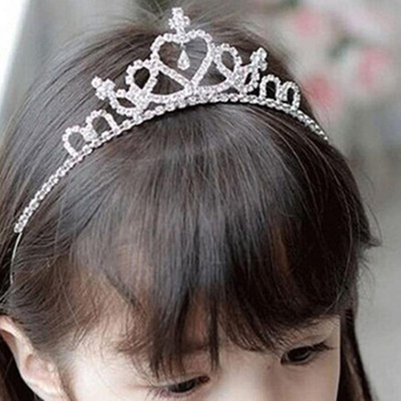 1Pcs Kids Hairband Crystal Tiara Hairband Kid Girl Bridal Princess Prom Crown Party Accessiories Princess Prom Crown Headband