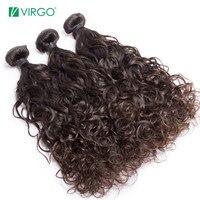 Unprocessed Virgin Hair Bundles 1 / 3 / 4 Bundles Brazilian Water Wave Hair Human Hair Weave Bundles Extensions Virgo Hair