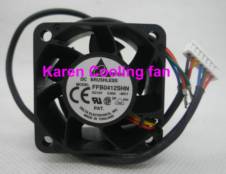 Купить с кэшбэком New Original Delta FFB0412SHN -8R17 4028 12v 0.6a 3wire Cooling fan