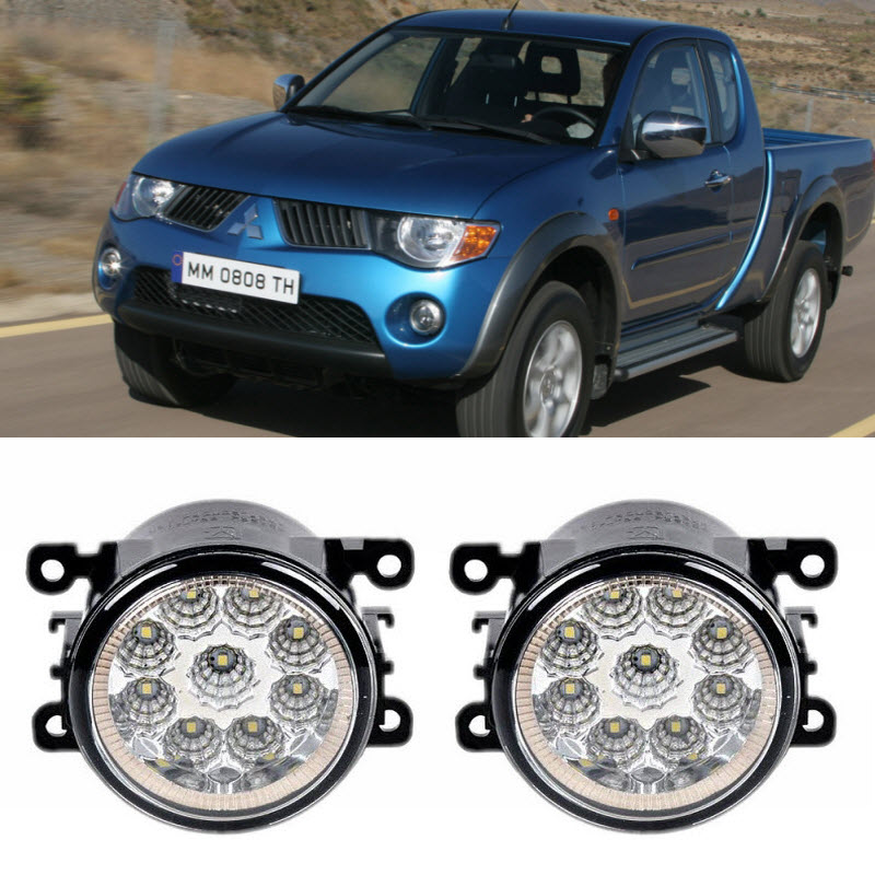 Car-Styling For Mitsubishi Triton L200 Strada Sportero Hunter 2006-2015 9-Pieces Led Fog Lights H11 H8 12V 55W Fog Head Lamp car modification lamp fog lamps safety light h11 12v 55w suitable for mitsubishi triton l200 2009 2010 2011 2012 on