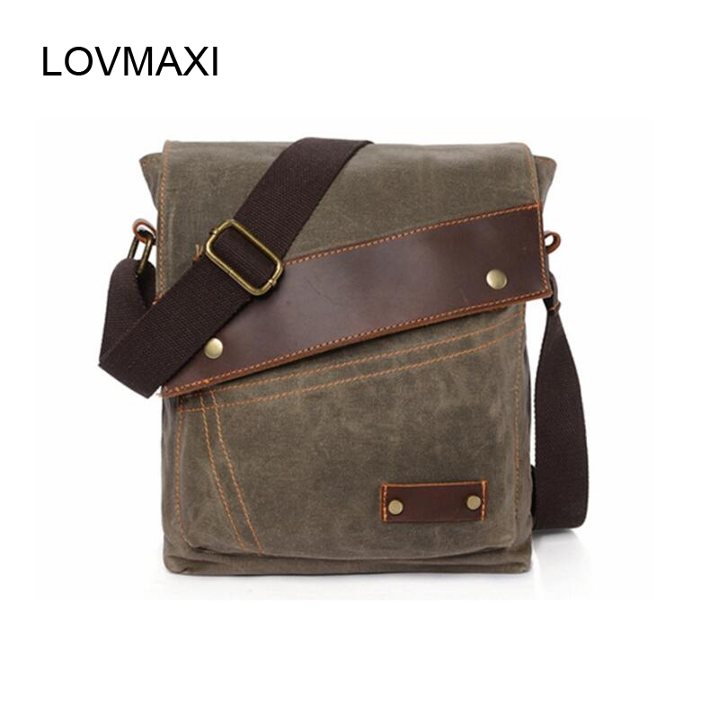 LOVMAXI New style Men shoulder bags anti-water Canvas crossbody bag Causal male messenger bags Canvas business bags leaderpal brand vintage men messenger bags causal canvas shoulder bag men fashion classical business crossbody bag small bolsos