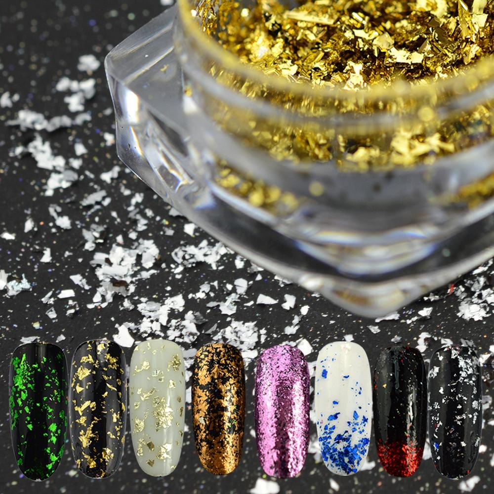 FleißIg SÜße Trend 1 Flasche Unregelmäßigen Glitter Nagel Pailletten Aluminium Flakes Chrome Nail Art Pigment Decor Magie Glitter Paillette La316 Fest In Der Struktur Nails Art & Werkzeuge