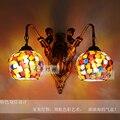 Средиземноморская Тиффани Русалка настенная лампа AC 110/220V E27 Настенные светильники для дома коридора спальни