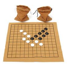 Melhor negócio diversão família jogos 90 pçs go bang jogo de xadrez conjunto camurça folha de couro placa crianças entretenimento educativo brinquedo jogo