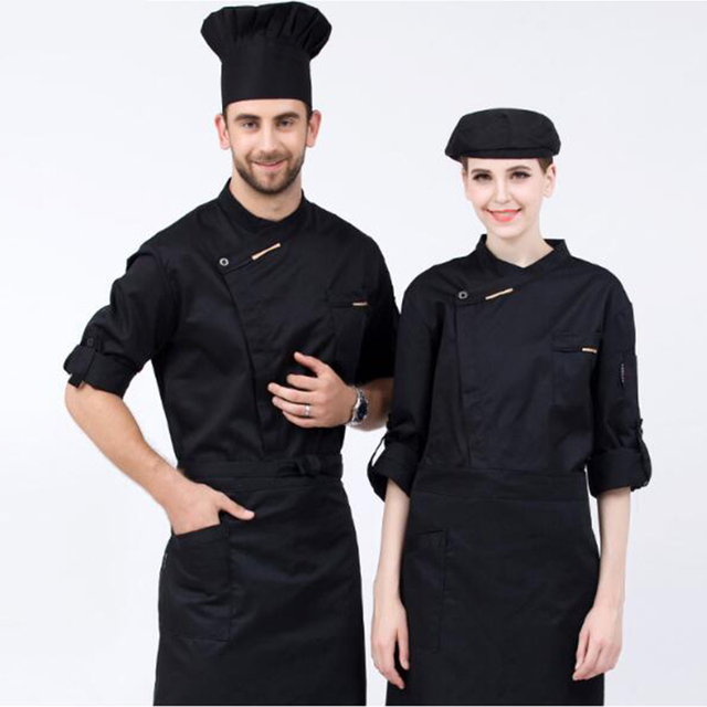New High quality Autumn&Winter Restaurant Coffee Bar Man Woman Chef Jacket Long-sleeve Cook Suit Work Wear Uniform