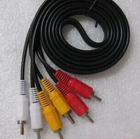 6 כבל AV 3 RCA ל 3 RCA כבל תקע מחבר לוטוס עבור ממירים עבור טלוויזיה DVD אודיו וידאו כבלי 1.5 m