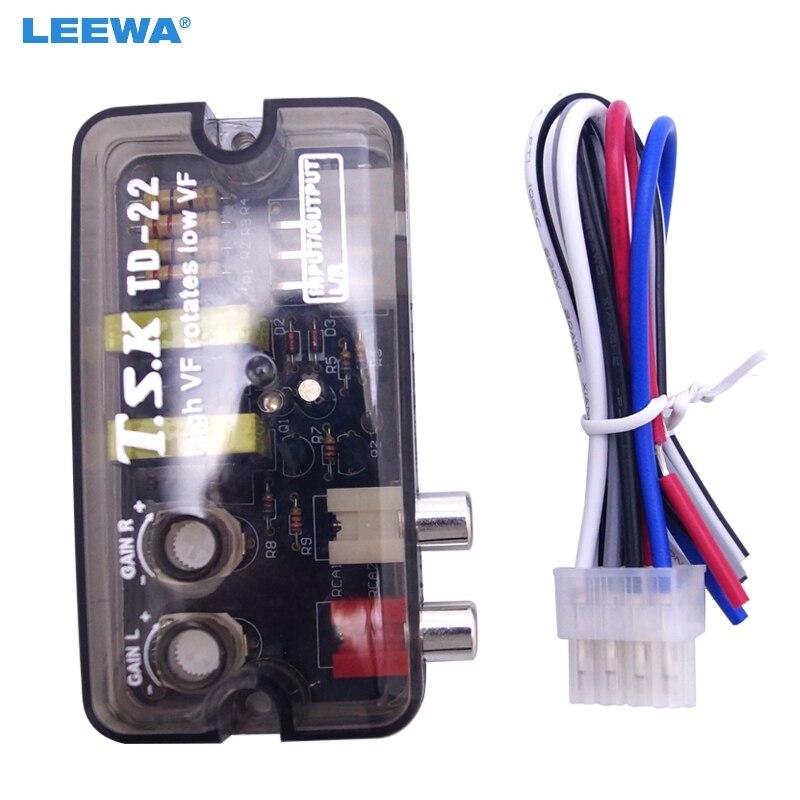 LEEWA 10pcs 12V RCA Auto Car Stereo Audio Speaker Level Converter High VF Rotates Low VF