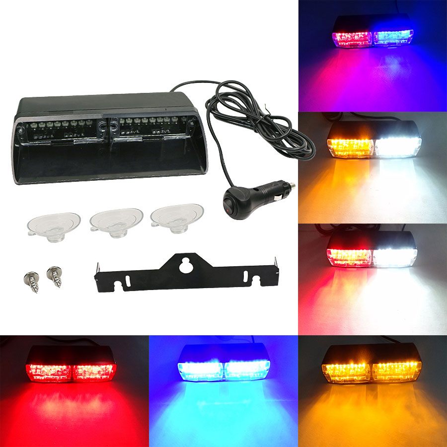 Super Bright 16LED 48W Viper S2 Signal flashing led warning light Red/Bule/yellow/White Police Strobe Flash emergency Lights free shipping super bright car warning lights viper s2 16pcs led blinking light