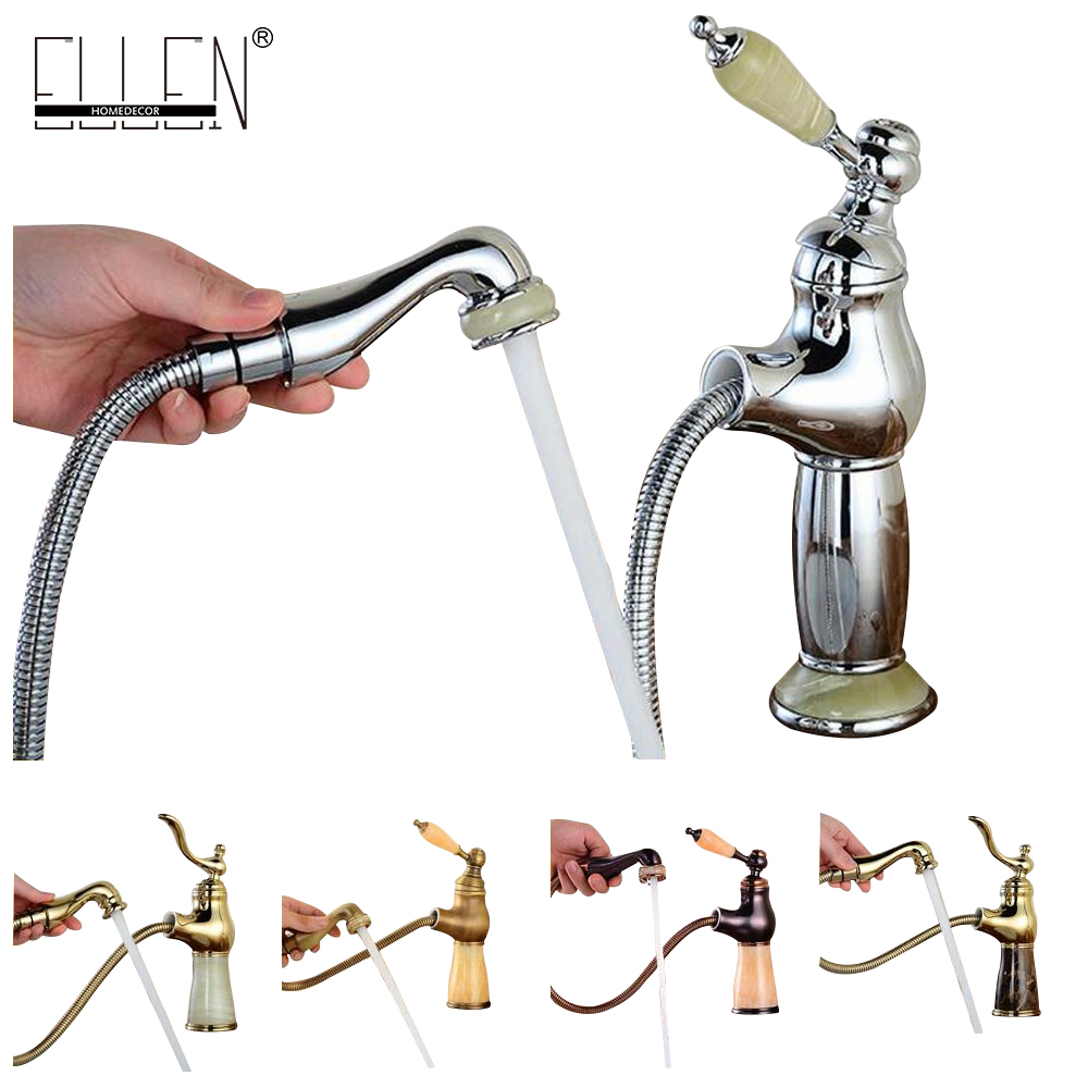 Bathroom Basin Sink Faucet Pull Out Luxury  Water Tap Single Lever Basin Faucet Deck Mount Bathroom Sink Mixer Tap faucet