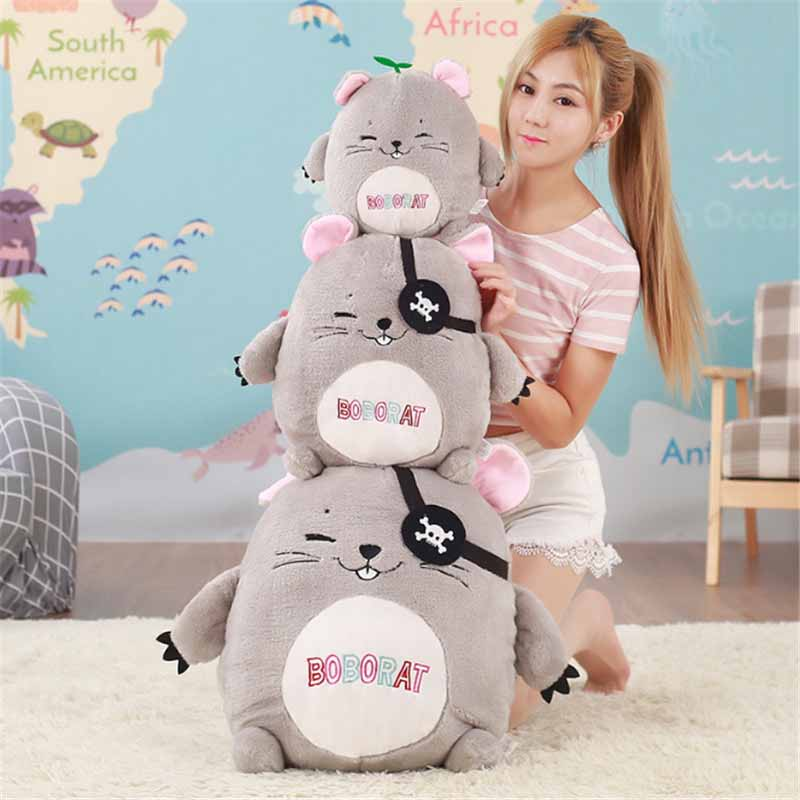 Fancytrader Lovely Hamster Plush Toys Big Soft Stuffed Anime Mouse Animals Pillow Doll for Kids Gifts 50cm 20inch fancytrader giant plush blue whale toy big stuffed soft sea animals whale pillow doll kids best gifts