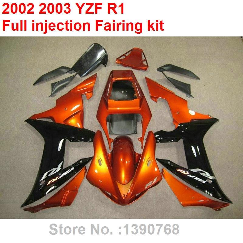 இKit de carenado de carrocería sin pintar para Yamaha YZF R1 02 03 ...