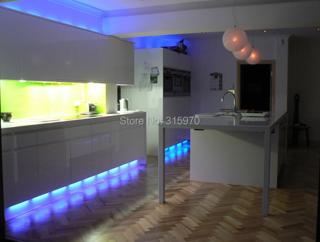 Colorful Round Led Kitchen Light 12vdc 9leds 5050smd Super Slim And Bright For Cabinet Down Lighting