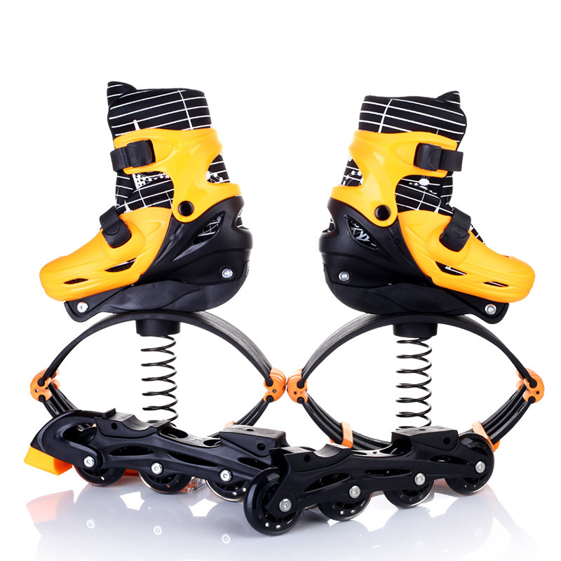 Jump Shose Roller Skate Shoes For Kids Teenager Fitness Equipment Inline Daily Street Brush Skating Unisex Adjust Free Ship IA03 roller skate classic black double row skating shoes pulley shoes 4 wheel shoes outdoor indoor riding asphalt road roller skate