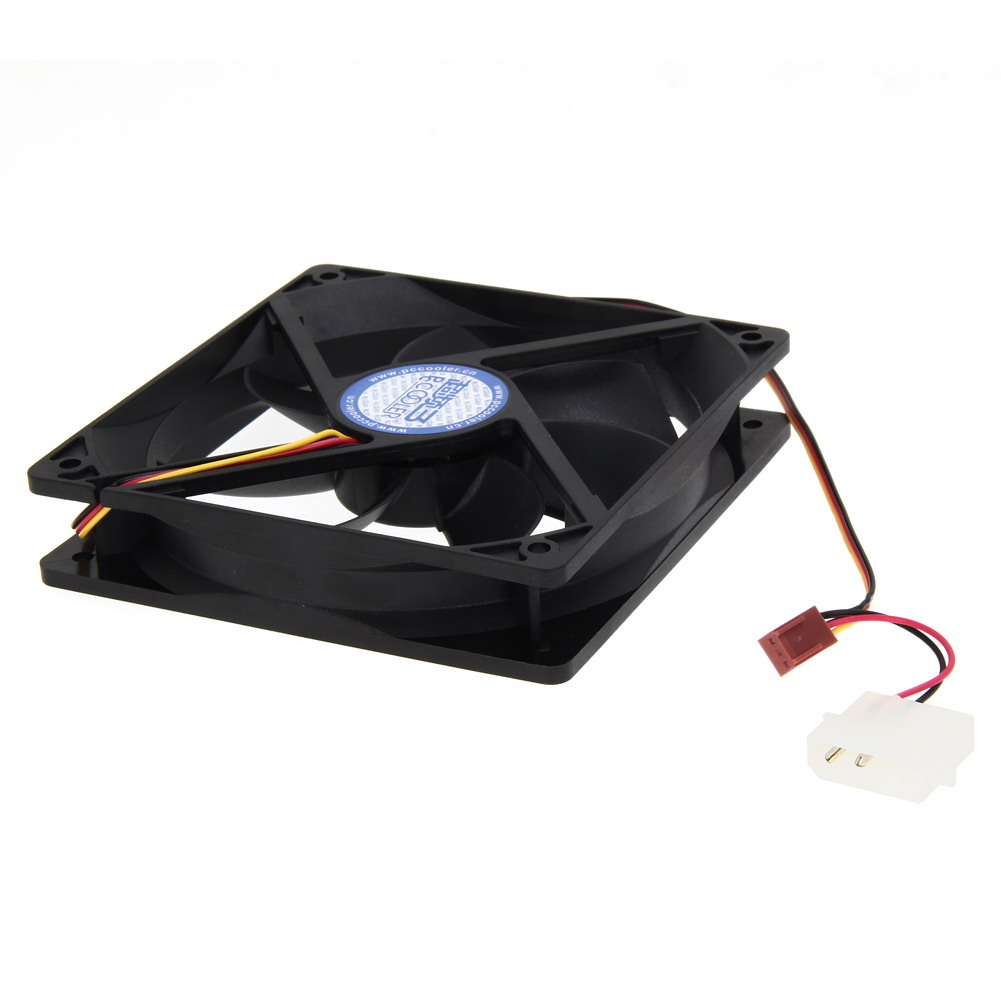 Silent Case Fan Quiet Computer PC Cooling  Mute 120mm Computer PC Case 3/4 Pin Cooling Fan with Screw Pad for PC CPU aerocool 15 blade 1 56w mute model computer cpu cooling fan black 12 x 12cm 7v