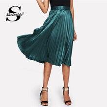 c8276c05b Compra pleated skirt satin zipper y disfruta del envío gratuito en ...