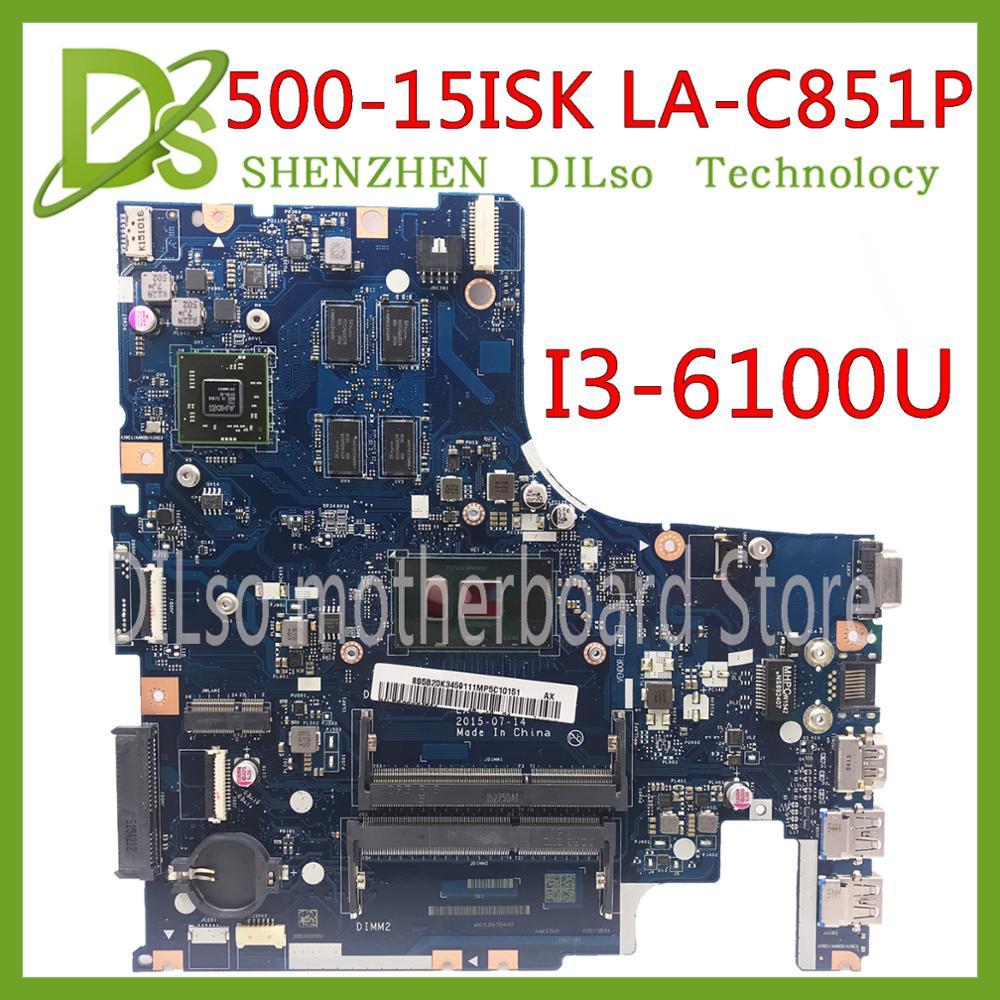 KEFU AIWZ2/AIWZ3 LA-C851P Motherboard For Lenovo IdeaPad 500-15ISK Laptop Motherboard I3-6100U Original 100% Test Motherboard