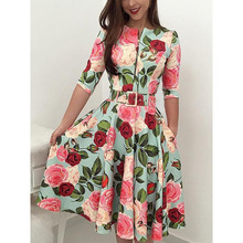 купить Autumn Print Newest Women Bandage Bodycon Dress Casual Long Sleeve Zipper Evening Party Midi Dress Floral Suits Midi Dress дешево