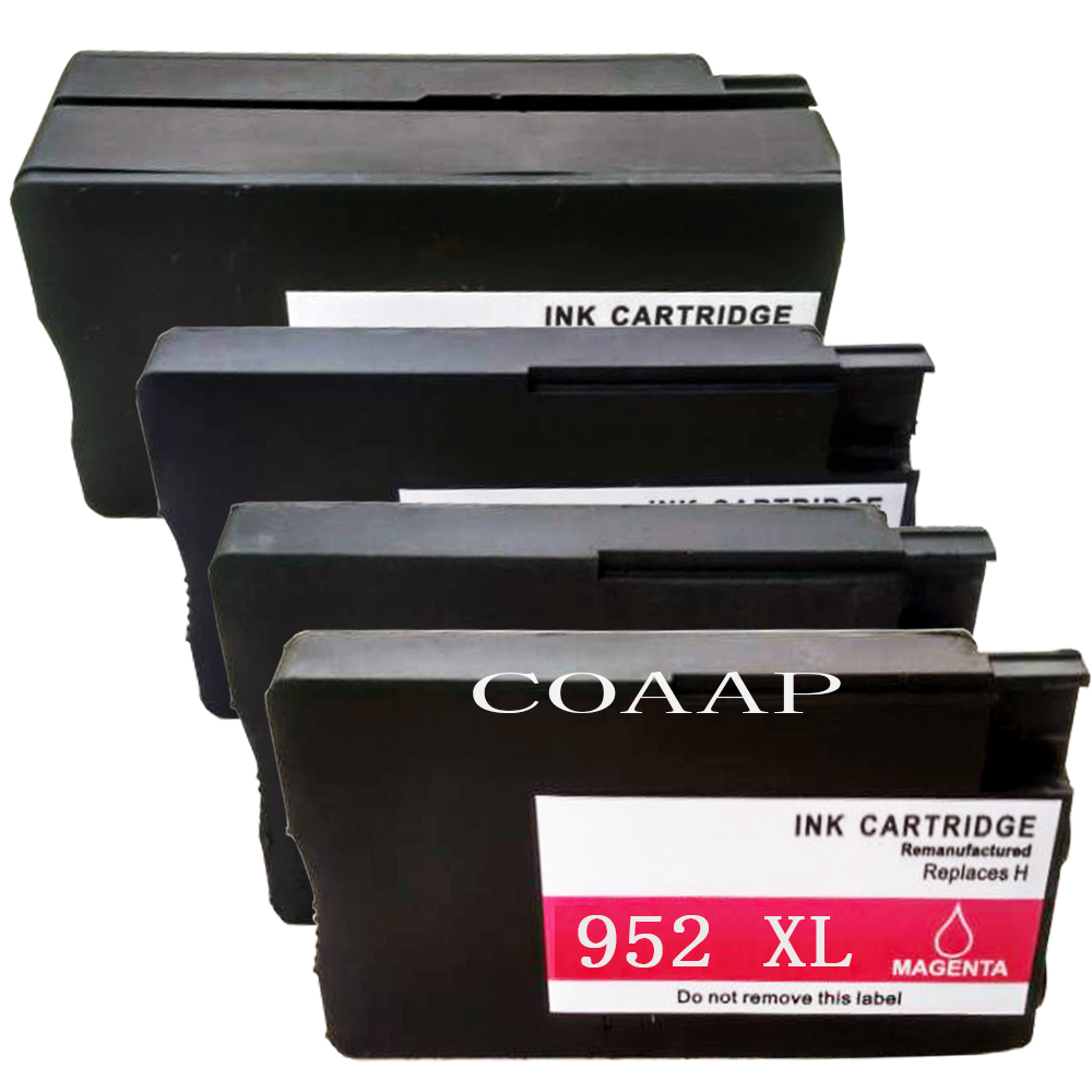 4PK Replacement ink cartridge for hp952 <font><b>952XL</b></font> F6U19AN L0S61AN L0S64AN L0S67AN for HP fficejet Managed MFP P27724 25220dw printer image