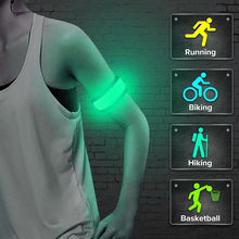 New Sport LED Flashing Light Up Glow Bracelet Wristband Vocal Concert Party Props Gift Gym Outdoor Running Cycling Light Lamp 30(China)