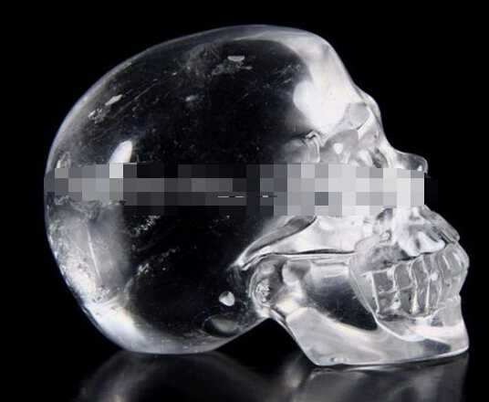 SUIRONG---412++++   QUARTZ ROCK CRYSTAL Carved Crystal Skull, Realistic, Healin