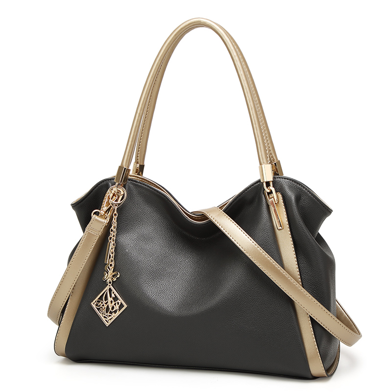 2bd05f27bd Bolso Mujer Negro Fashion Hobos Women Bag Ladies Brand Leather Handbags  Spring Summer Casual Tote Bag Shoulder Bags For Woman-in Shoulder Bags from  Luggage ...