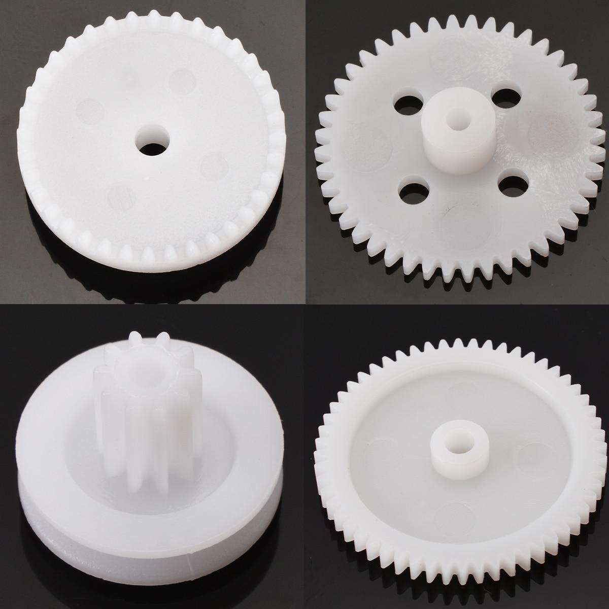 81pcs/set Plastic Gear Wheel Assorted Kit For Toy Car Motor Robot Shaft Model Crafts