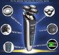 De alta Calidad! 2014 Nueva Llegada de La Venta Caliente Famosa Marca 3D Lavado de Todo el Cuerpo máquina de Afeitar Eléctrica del Condensador de Ajuste de Afeitar la Cara de Afeitar barbeador