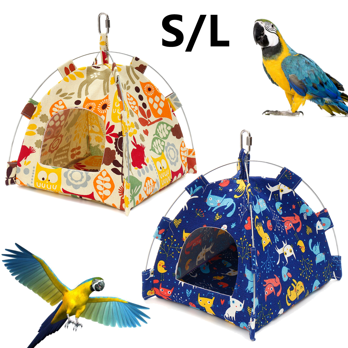 Pet Products Home & Garden Pet Parrot Hammock Pet Birds Bed House Hanging Fuzzy Plush Winter Warm Soft Nest Toy Professional Design