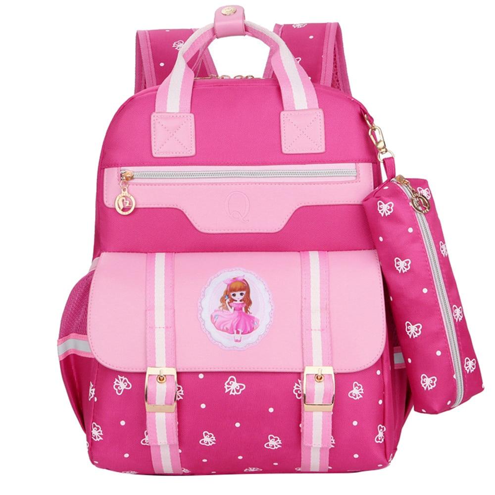 e78d221e17a2 Детские школьные сумки детские рюкзаки Водонепроницаемый нейлон девушка  ортопедические школьные сумки мультфильм печать рюкзак женский р.