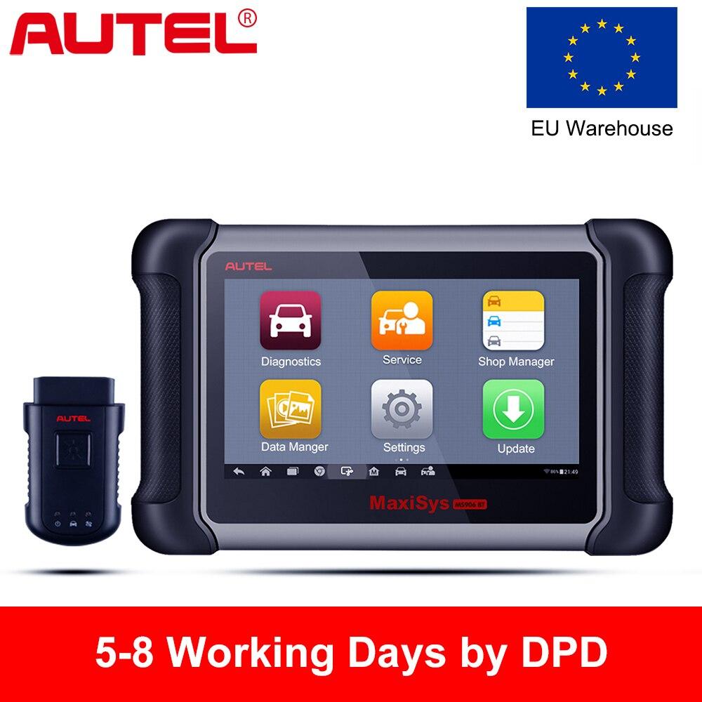 Autel Maxisys MS906BT OBD2 сканер автомобильный диагностический инструмент беспроводной Bluetooth сканер ключ кодирования иммобилайзер лучше, чем Запуск
