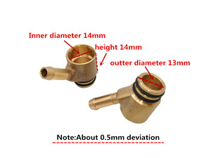 Image 3 - No holes high quality injector adapter for CNG LPG gas fuel car conversion kits M6+M8