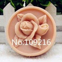 New Product!!1pcs Rose Round(zx200)Food Grade Silicone Handmade Soap Mold Crafts DIY Mould
