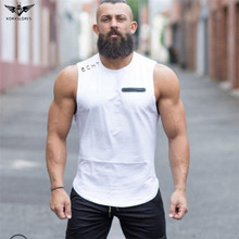 KORKSLORES Fashion Brand Men's Tank Top Tees Shirts Sleeveless Soft Undershirts Fitness Stringers Men T-shirts Solid Muscle