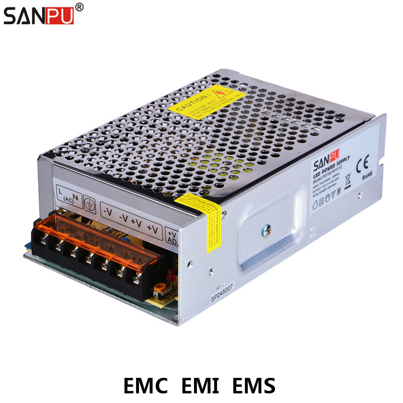 SANPU EMC EMI EMS 150W Switching Power Supply 12VDC 12A Universal LED Driver 12Volt Converter 110V 220V AC-DC 12V TransformerSANPU EMC EMI EMS 150W Switching Power Supply 12VDC 12A Universal LED Driver 12Volt Converter 110V 220V AC-DC 12V Transformer