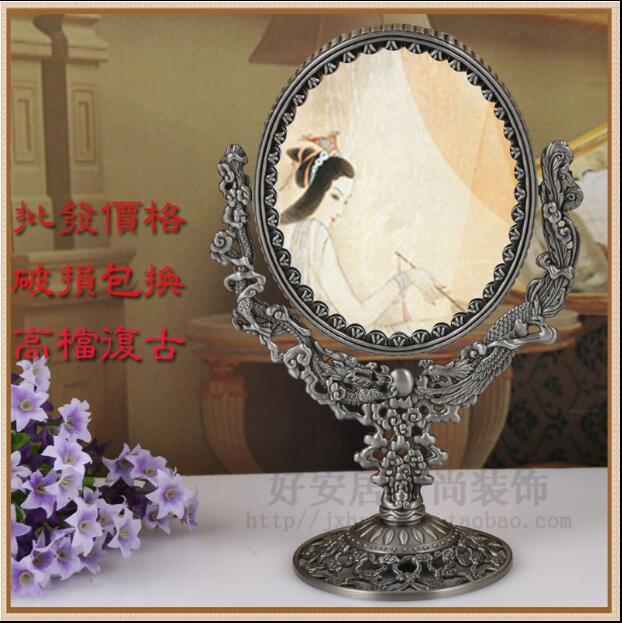 Ev ve Bahçe'ten Dekoratif Aynalar'de Avrupa çift yüzlü retro büyük boy masa ayna makyaj masası aynası hediye büyüteçli ayna ev dekor için büyük aynalar J027'da  Grup 1