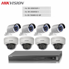 Hikvision CCTV HD 8PCS DS-2CD2032F-I POE IP 3MP WDR Camera 8CH NVR P2P Alarm Motion Detection Onvif Video Surveillance NVR