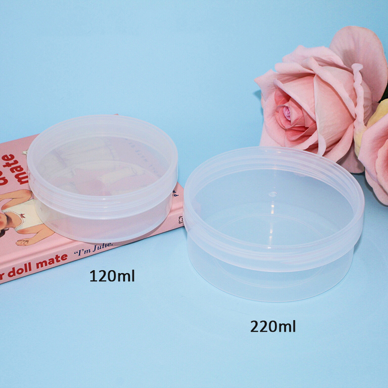 Happy Monkey 20pcs/Lot 120/220ml Slime Box New Plastic Storage Box With Lids For Fluffy Clear Slime Accessories Toy