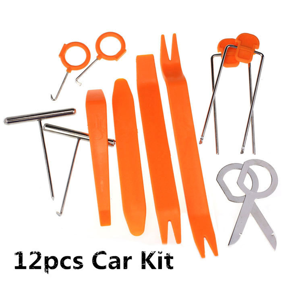 Franchise 12pcs Set Som Automotivo Car Radio Door Clip Panel Trim Dash Audio Removal Installer Pry Tool Auto Car-styling #0724