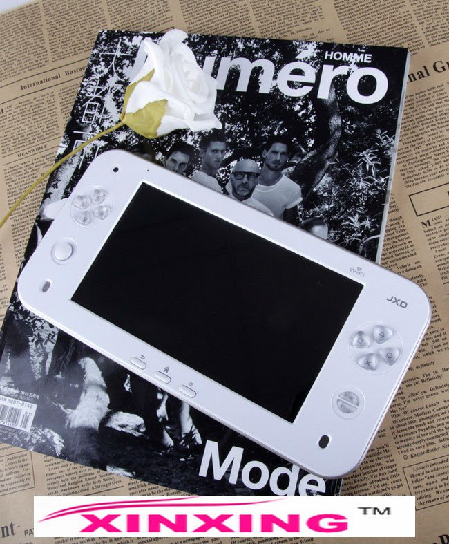 Factory price JXD S7100 7Inch Android 2.3 Dual Camera Keyboard Touch Screen 8G Handheld Game Console Free shipping