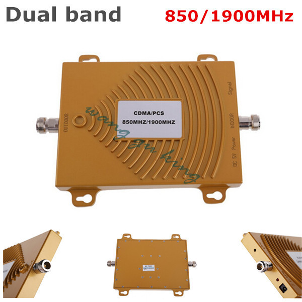 1PC Dual band 3G CDMA GSM PCS 850/1900MHz Mobile Phone Cell Phone Signal Amplifier Booster Repeater 60db up to 500sq