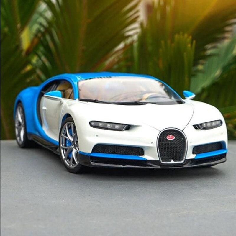 Haute Simulation 1:18 Chiron modèle en alliage Super course, modèle de voiture cadeau et Collection exquis, métal moulé sous pression, livraison gratuite